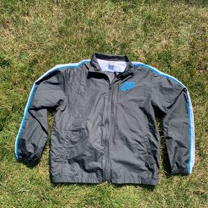 Nike black w/ blue & white stripe windbreaker